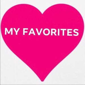 My favorite things!!  Look for the pink heart!!